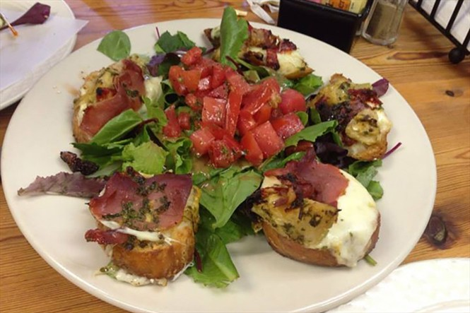 There's a variety of Bruschettas daily on the menu at The French Pantry.